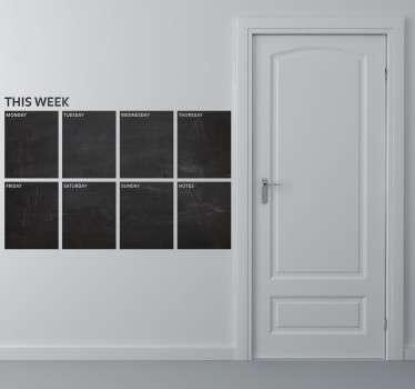 This Week Planner Blackboard Sticker
