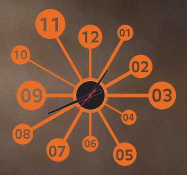 Sticker horloge scientifique