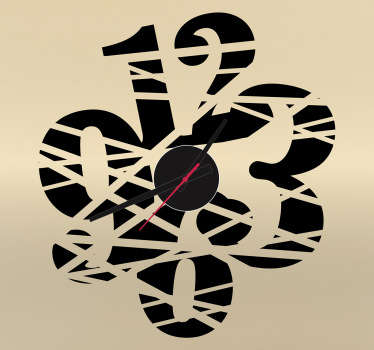 Cut Wall Clock Sticker