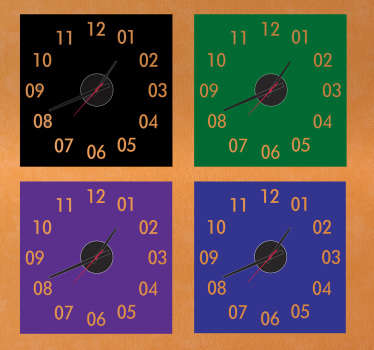 Wall Clocks - Square design. Select your preferred colour below. Distinctive and ideal for decorating your home or any space.