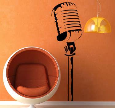 Klassisk mikrofon veggen klistremerke