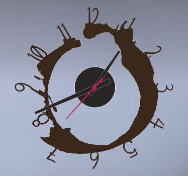 Coffee Stain Wall Clock Sticker