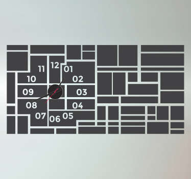 Rectangles Wall Clock Stickers