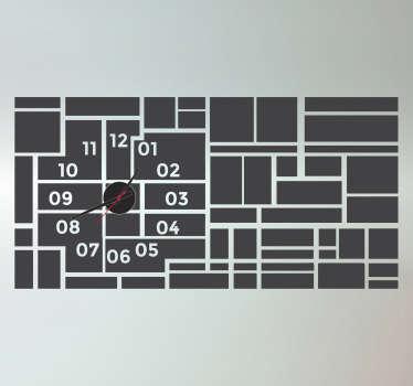 Sticker horloge tableau