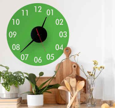 Gekleurde klok stickers