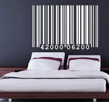 Sticker tête-de-lit code-barres
