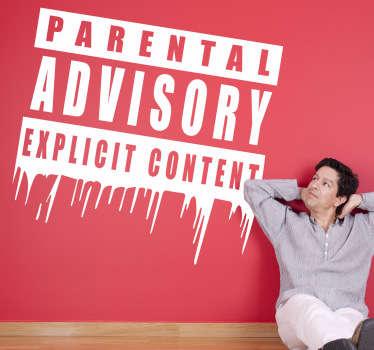 Naklejka ostrzegawcz parental advisory