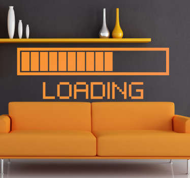 A vinyl wall sticker illustrating an almost full loading bar! You can now decorate your store or bedroom with this original design.