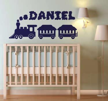 Sticker bambini treno con nome