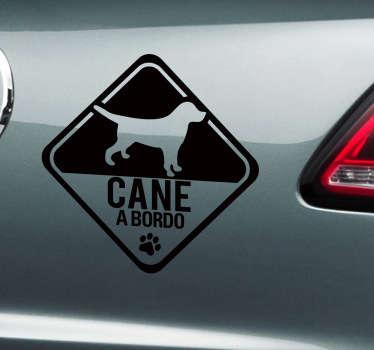 Sticker decorativo cane a bordo invertito