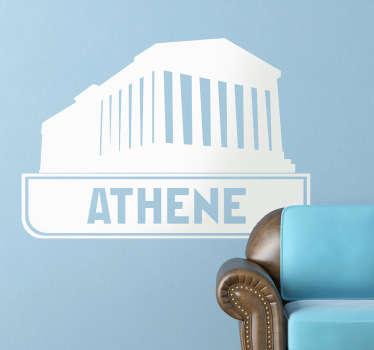 Sticker tempel athene oude grieken