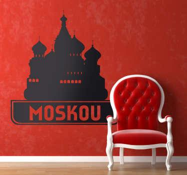Muursticker van deze prachtige kathedraal in Rusland. Decoreer uw woning met deze wandsticker van de blikvanger van het rode plein in Moskou.