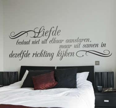 Nederlandse muurteksten in slaapkamer - TenStickers