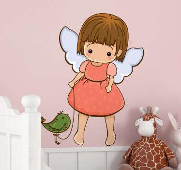 Sticker enfant petit ange oiseau