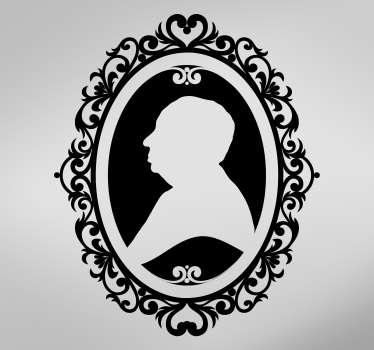Personalizate autocolant de perete cadru de portret