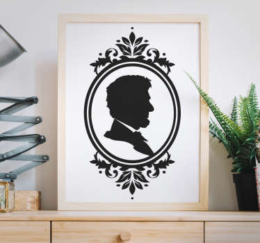 Wall Stickers - Self-portrait illustration. An elegant and vintage design to decorate your home. Select your preferred size and colour.