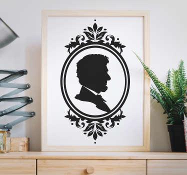 Naklejka dekoracyjna portret profilowy