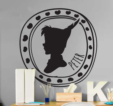 Sticker enfant silhouette cadre