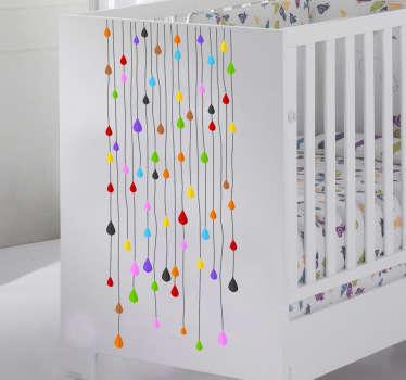 Sticker bambini fili gocce color