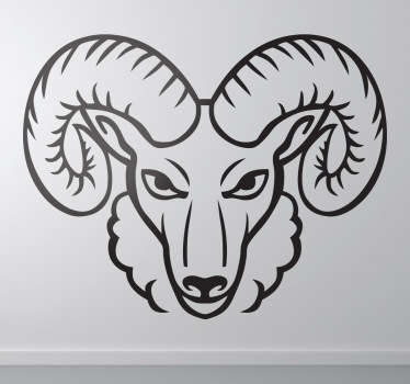 Angry Ram Sticker