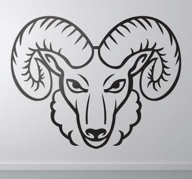 Vinilo decorativo carnero enfadado