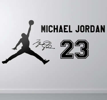 Sticker silhouette Michael Jordan 23