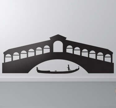 Venice Gondola Silhouette Decal