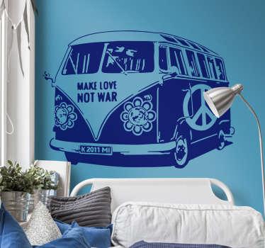 Sticker Volkswagen busje hippie