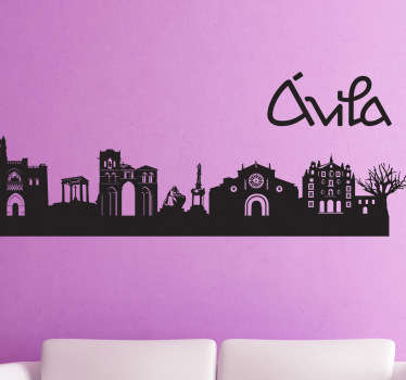Avila City Silhouette Wall Sticker