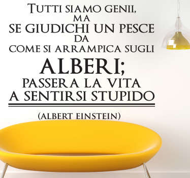 Sticker decorativo frase Albert Einstein