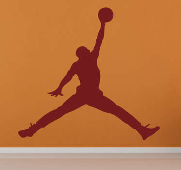 Wandtattoo Silhoulette Michael Jordan