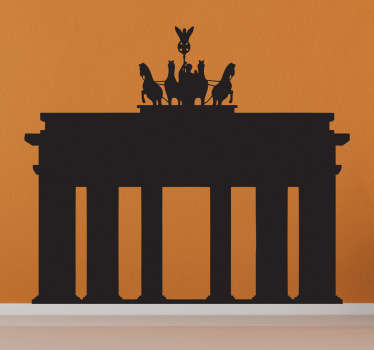 Wall Stickers - A silhouette illustration of the Brandenburg Gate, an 18th-century neoclassical triumphal arch in Berlin.
