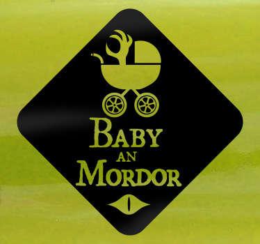 Baby Mordor Auto Aufkleber