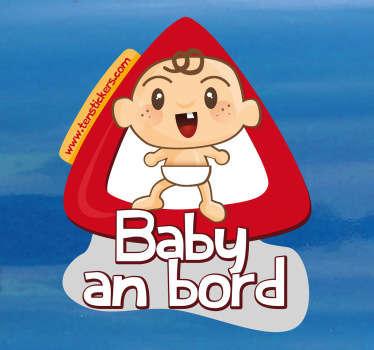 Haben Sie ein Baby in Ihrem Auto? Mit diesem lustigen Sticker können Sie auf Ihr kleines Kind hinweisen.