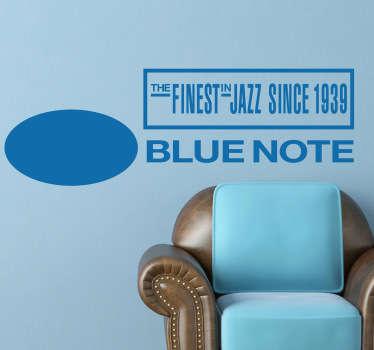 Stencil muro logo Blue Note