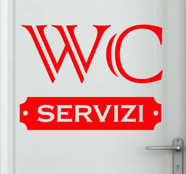 Sticker decorativo targhetta WC