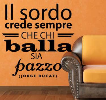 Sticker decorativo testo Jorge Bucay
