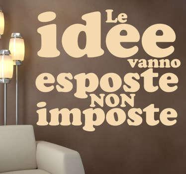 Sticker decorativo esporre idee