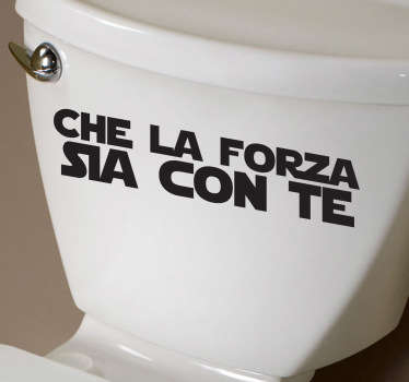 Sticker decorativo testo la forza