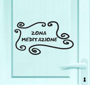 Fai della tua camera un'oasi di calma e relax decorando la porta con questo elegante adesivo.
