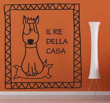 Sticker decorativo il re della casa
