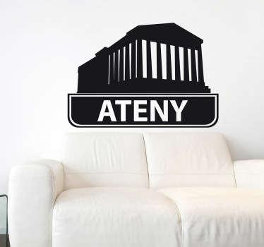 Naklejka dekoracyjna miasta Ateny