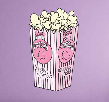 Wall sticker popcorn