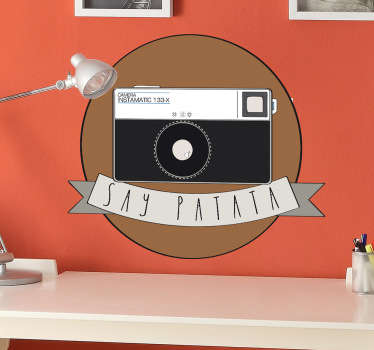 An Instamatic patata object  wall sticker for home and office decoration. It is available in any required size and easy to apply.