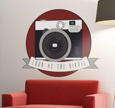 A great camera wall sticker to decorate your office or studio! Give your place a creative appearance with this high quality decal.