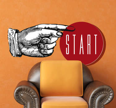 "Wall sticker ""premi start"""