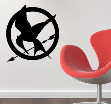 Mockingjay Pin Silhouette Sticker