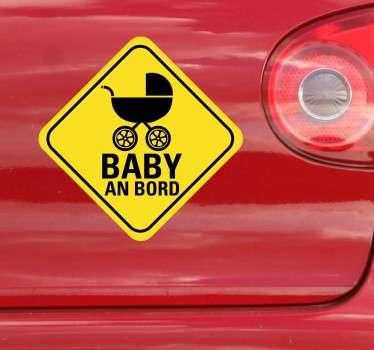 Autoaufkleber Baby im Auto