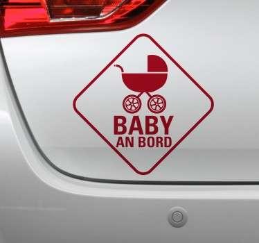Haben Sie ein Baby im Auto? Mit diesem besonderen Sticker können Sie auf Ihren kleinen Schatz hinweisen.
