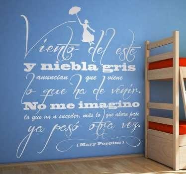 Vinilo decorativo texto Mary Poppins